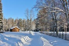 Museu ao ar livre Hägnan em Gammelstad Foto de Stock Royalty Free