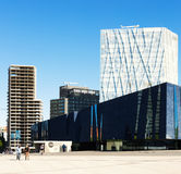 Museu Blau and building of Telefonica in Barcelona Royalty Free Stock Photos