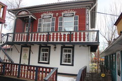 Museu bonito da casa do cossaco fotografia de stock royalty free