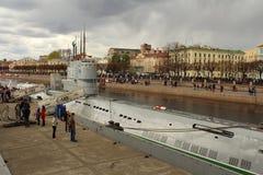 Museu C-189 de flutuação submarino em St Petersburg Imagem de Stock