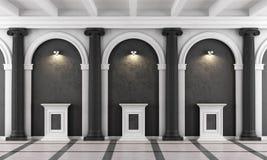 Museu clássico preto e branco ilustração stock