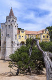 Museu Condes de Castro Guimarães, Cascais, Portugal. An early-19th-century mansion, complete with castle turrets and Arabic cloister, sits in the grounds Royalty Free Stock Photos
