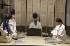 Museu coreano antigo dos povos da vida imagem de stock