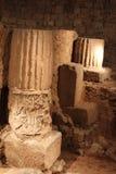 Museu d'Història de la Ciutat de Barcelona. Ancient ruins on display at the Museu d'Història de la Ciutat de Barcelona . This extensive underground museum Stock Image