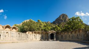 Museu da água ruína Tunísia, curso Panorama Imagem de Stock Royalty Free