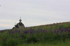 Museu da antiguidade de Khokhlovka, de designe e de arquitetura da casa do russo foto de stock