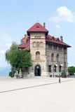 Museu da arte Aeneolithic de Cucuteni, Piatra Neamt, condado de Neamt, Romênia Fotos de Stock Royalty Free