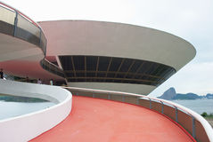 Museu da arte contemporânea de Niteroi de Oscar Niemeyer Foto de Stock