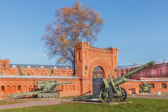 Museu da artilharia em St Petersburg, Rússia Fotografia de Stock