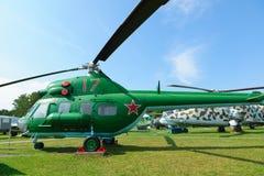 Museu da aviação em Bielorrússia Fotos de Stock