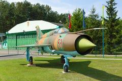 Museu da aviação em Bielorrússia Imagens de Stock