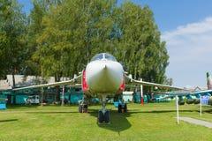 Museu da aviação em Bielorrússia Foto de Stock