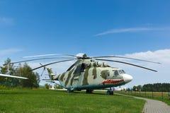 Museu da aviação em Bielorrússia Fotografia de Stock Royalty Free