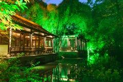 Museu da casa de campo de Chengdu Du Fu Thatched Fotos de Stock Royalty Free