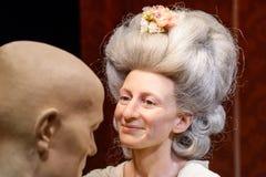 Museu da cera da senhora Marie Tussaud Figurine At Madame Tussauds Fotos de Stock Royalty Free