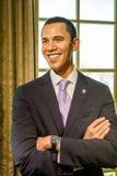 Museu da cera de Barack Obama Figurine At Madame Tussauds Fotos de Stock Royalty Free