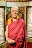 Museu da cera de Dalai Lama Figurine At Madame Tussauds Fotografia de Stock