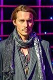 Museu da cera de Johnny Depp Figurine At Madame Tussaud Fotos de Stock