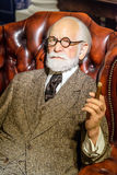 Museu da cera de Sigmund Freud Figurine At Madame Tussauds Fotos de Stock
