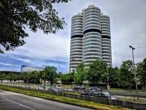 Museu da construção de BMW o 28 de junho de 2017, Munich, Baviera, Alemanha fotografia de stock royalty free