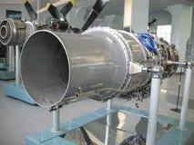 Museu da história da construção do motor de aviões Motores de aviões em suportes Motores de turbina e de motor a combustão intern Foto de Stock