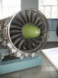 Museu da história da construção do motor de aviões Motores de aviões em suportes Motores de turbina e de motor a combustão intern Fotografia de Stock