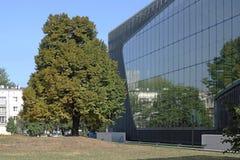 Museu da história de judeus poloneses em Varsóvia Foto de Stock