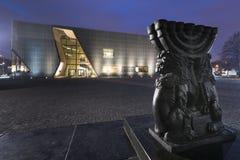Museu da história de judeus poloneses em Varsóvia, Polônia Imagens de Stock Royalty Free