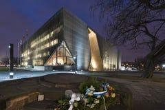 Museu da história de judeus poloneses em Varsóvia, Polônia Imagem de Stock Royalty Free