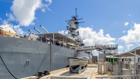 Museu da navio de guerra de USS Missouri Foto de Stock