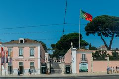 Museu da Presidencia da Republica in Belem, which has, over time, been the official residence of Portuguese monarchs and. Belem, Portugal - Sept 7, 2018: Museu stock photos