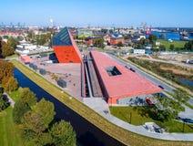 Museu da segunda guerra mundial em Gdansk, Polônia Fotografia de Stock Royalty Free