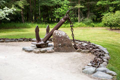 Museu das âncoras no parque em Ventspils Fotografia de Stock Royalty Free