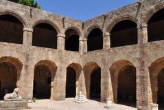 Museu de Archaelogical, cidade velha o Rodes, Greece imagem de stock