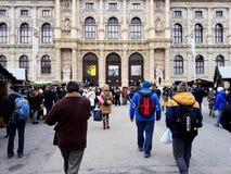 Museu de Art History em Maria Theresa Square em Viena Fotografia de Stock Royalty Free