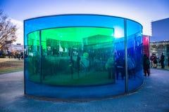 Museu de arte contempor?nea do s?culo XXI foto de stock royalty free