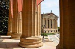 Museu de arte de Philadelphfia imagens de stock