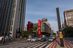 Museu de arte de Sao Paulo na avenida de Paulista Foto de Stock