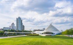 Museu de arte de Milwaukee, milwaukee, wi, EUA, 8-9-17: mus da arte de milwaukee imagens de stock