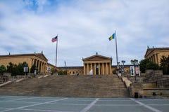 Museu de arte de Philadelphfia fotos de stock royalty free