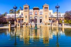 Museu de artes e de tradições populares, Sevilha, Espanha Imagem de Stock