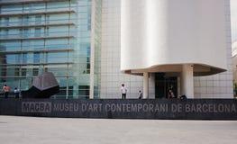 Museu de Barcelona de arte contemporânea Foto de Stock Royalty Free