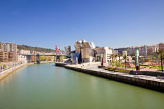 Museu de Bilbao Guggenheim panorâmico Imagens de Stock Royalty Free