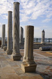 Museu de Caesarea aberto abaixo pelo céu fotografia de stock royalty free