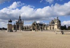 Museu de Conde Vista do castelo Chantilly Imagens de Stock Royalty Free