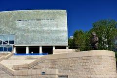 Museu de Domus projetado por Arata Isozaki, prêmio 2019 da arquitetura de Pritzker La Coruña, Espanha, o 22 de setembro de 2018 fotos de stock royalty free