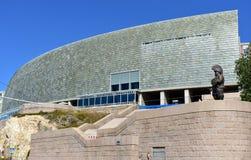 Museu de Domus projetado por Arata Isozaki, prêmio 2019 da arquitetura de Pritzker La Coruña, Espanha, o 22 de setembro de 2018 fotos de stock