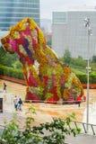 Museu de Guggenheim Bilbao da escultura do cachorrinho Imagem de Stock Royalty Free