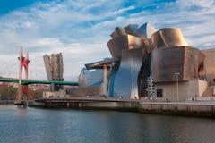 Museu de Guggenheim em Bilbao fotos de stock