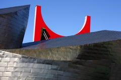 Museu de Guggenheim um brigde do Salve do La Foto de Stock